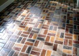 Cobblestone Kitchen Floor The Pros And Cons Of Brick Floor Surface Coverings