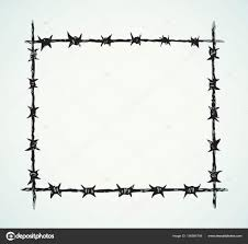 barbed wire fence drawing. Perfect Fence Barbed Wire Vector Drawing U2014 Stock To Wire Fence Drawing O