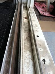replacing sliding glass door bottom track designs
