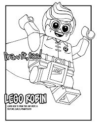 Small Picture Lego Batman Movie Robin Coloring Pages Image Gallery HCPR