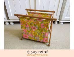 1960s flower power folding knitting bag 14 00