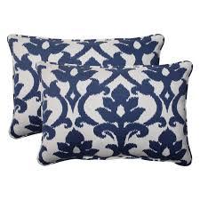 Pillow Perfect Bosco Polyester Navy Corded Oversized Rectangular