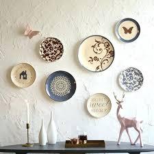 ceramic wall decor white woman sculpture art by flower blue