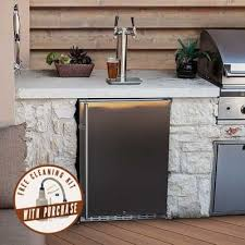 kegerators and beer dispensers edgestar com a product thumbnail of edgestar full size dual tap built in outdoor kegerator