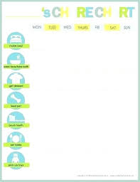 Toddler Chore Chart Template Easy Chore Chart Template