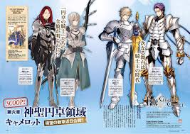 clear and large image of knights of the round grandorder with knights of the