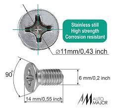 Screw Rotor Brake Disc Retaining Set Is Best For Honda Acura Hyundai Kia Mazda Vw Volkswagen Audi Porsche Vag Great Kit Of 8 Pcs Stainless