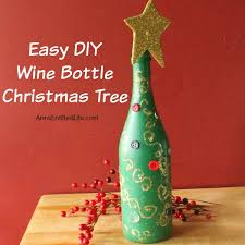 How To Decorate A Wine Bottle For Christmas easydiywinebottlechristmastreesquarejpg 32
