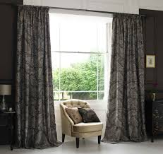 Cozy Image Of Bedroom Decoration With Various Bedroom Curtain And Drapes :  Elegant Black Bedroom Decoration