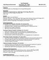 Resume For Radiologic Technologist Fascinating Radiologic Technologist Sample Resume Entry Level Fresh X Ray