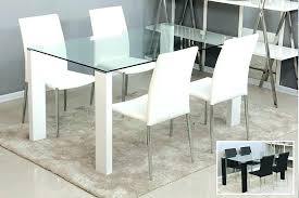 modern round glass dining table top extendable cover for ikea black