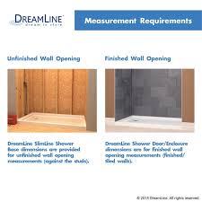 slimline quarter round shower base