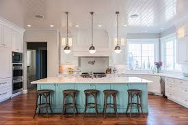 bright kitchen lighting. The Attractive Of Bright Kitchen Lighting In Beautiful With White Color Luxury Cabinets And A Large Painted Island On Wooden I