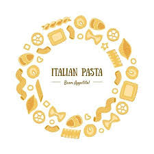 Italian Pasta Banner Template Round Frame With Different