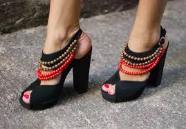 diy burberry tribal high heels