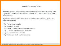 Teller Cover Letter Sample Teller Cover Letter Sample Bank Bank Teller Job Application Letter
