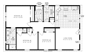 manufactured home floor plan the imperial model imp 34410b 3 bedrooms