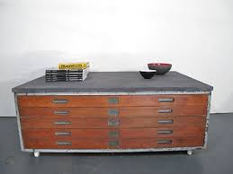 vintage plan chest or architects