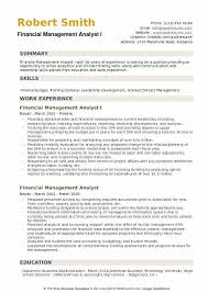 Osd Obligation And Expenditure Goals Chart Financial Management Analyst Resume Samples Qwikresume