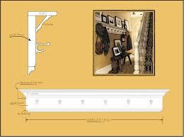 Coat Rack Dimensions Plans Wall Mounted Coat Rack Plans 50
