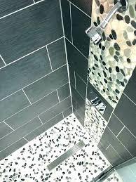 river rock shower floor river stone shower floor grey tile full size of interior sliced pebble river rock shower floor