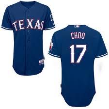 Men's Base Mlb Blue Jersey 2 Authentic Cool Texas Official Majestic Shin-soo Alternate Rangers Royal Choo