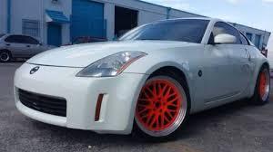nissan 350z white custom. Unique Nissan 2004 Nissan 350Z Pearl White Custom 19 Varrstoen Wheels Image 1  For 350z Custom R