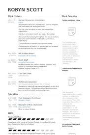 Hr Coordinator Cv Sample Hr Resume Examples Human Resources Business Partner Resume