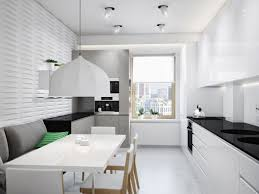 Modern White Kitchen Designs Kitchen Modern White Home Layout Thought With Recessed Lighting