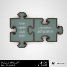 commoner puzzle wall art dark on puzzle into wall art with second life marketplace commoner puzzle wall art dark