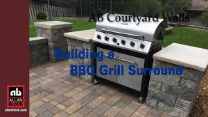 how to build a bbq grilling station or grill surround