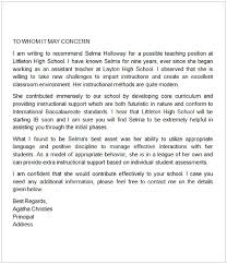 sample letter of recommendation for teaching position letter of recommendation for a teacher colleague cycling studio