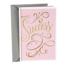Hallmark Graduation Greeting Card Pink And Gold Script Success