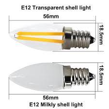 lampada <b>led</b> e12 mini filament light <b>110v 220v</b> 2W cob e <b>12</b> energy ...