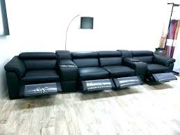 blue leather reclining sofa recliner velvet light faux leath