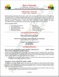 Best Ideas Of Resume Examples For Preschool Teachers Amazing ...