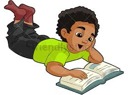 black boy reading a book png jpg and vector eps infinitely scalable