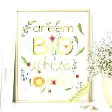 baby nursery baby girl nursery decor wall art for e print dream big little