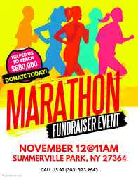 Flyers For Fundraising Events Marathon Fundraiser Event Flyer Template Postermywall