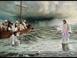 Image result for pictures of Jesus walking on water