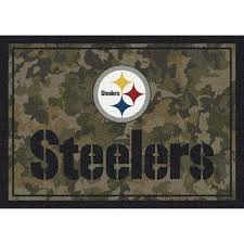 pittsburgh steelers 46 x 64 camo area rug