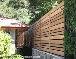 Custom Modern Horizontal Wood Fence - Pasadena, La Canada and Flintridge, CA