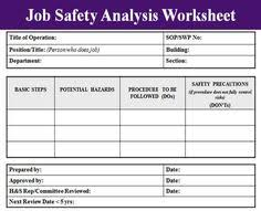 job safety analysis template 147 best work osha images workplace safety industrial safety