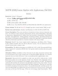 Math 2210q Linear Algebra With Applications Fall 2016