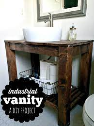 Diy Industrial Farmhouse Bathroom Vanity Melissa Voigt