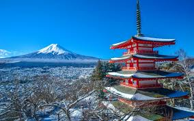 Herunterladen Hintergrundbild Mount Fuji Japan Winter