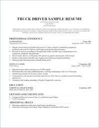 Forklift Driver Resume Lovely Truck Driver Resume Example Truck
