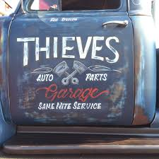 there was plenty of custom art and pinstriping on the hot rods at the show here are a few exles of the truck door art and detail i spotted at the show