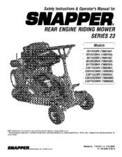 snapper 2811523bv (7084940) manuals snapper series 23 service manual at Snapper Series 23 Wiring Diagram