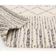chunky braided caena grey wool floor area rug free with